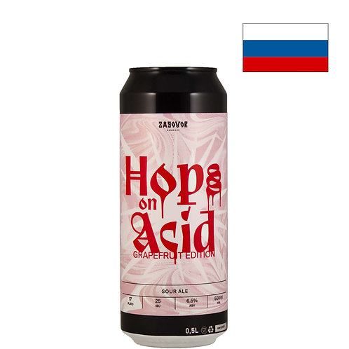 Пиво Zagovor Hops On Acid Grapefruit Edition | 500 мл | ж/б - CHILL