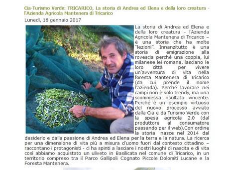 La Cia (confederazione italiana agricoltori) ci dà il benvento