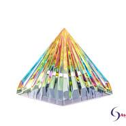 LichtKristall Pyramide Bunt von Ascension