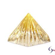 LichtKristall Pyramide Gold