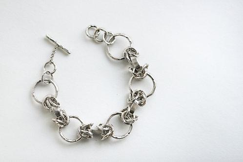 Браслет цепочка, большой браслет в виде цепи, крупный браслет цепь, массивный браслет серебро,  ювелир Екатерина Толстая