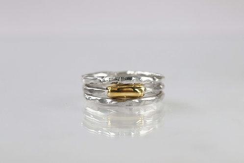 100 ручная работа, фаланговые кольца, кольца сет, латунь серебро, тонкие серебряные кольца, Tolstaya jewelry, набор колец