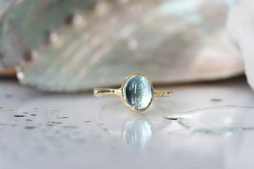 Кольцо с топазом золото, помолвочное кольцо, ювелир Екатерина Толстая. Желтое золото, купить необычное кольцо с топазом