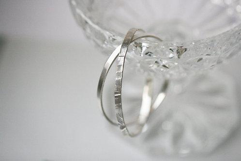 базовый браслет Tolstaya Jewelry, жесткий браслет Екатерина Толстая, гладкий браслет серебро 925, купить в спб, недорого