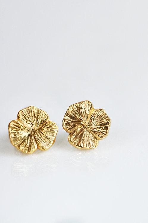 Серьги клевер трехлистник серебро 925, маленькие серьги гвоздики без камней, пуссеты позолота цветы, круглые пусеты золото