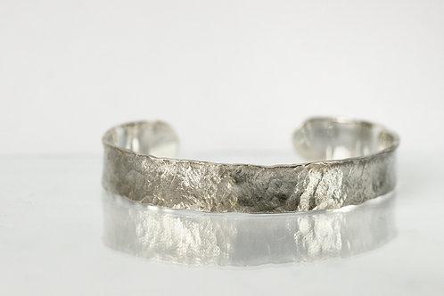 Браслет широкий серебряный, браслет ручной работы из серебра 925 пробы, ювелир Екатерина Толстая, унисекс, украшения в СПб
