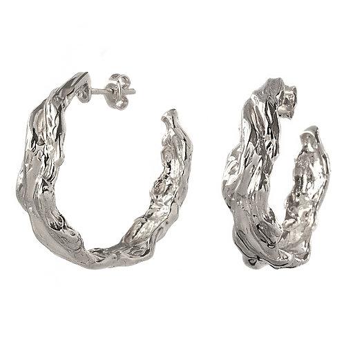 Серьги кольца серебро 925 пробы, Конго пусеты круглые серьги купить СПб онлайн, ювелир Екатерина Толстая, авторское изделие