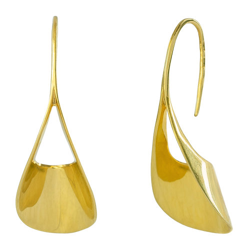висячие серьги желтое золото, покрытие. Гладкое серебро 925, большие красивые серьги без всего, минимализм