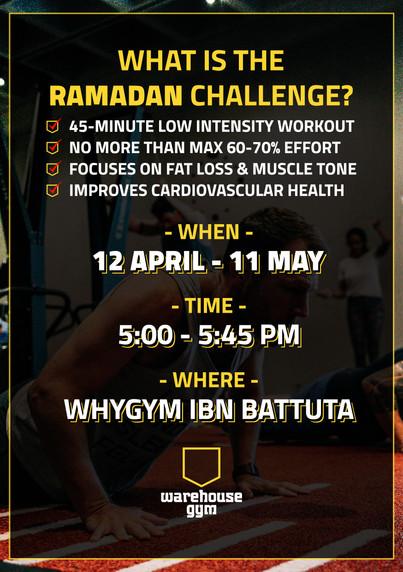 Warehouse Gym-A5 Flyer Ramadan challenge