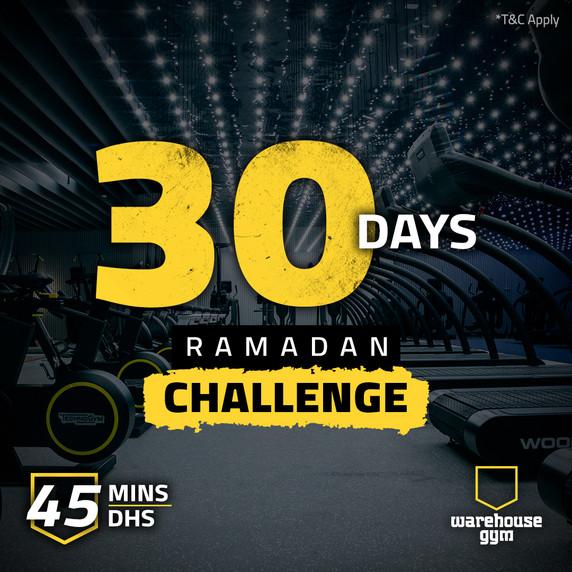 Warehouse Gym-30 days ramadan challenge-