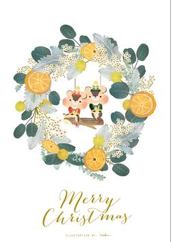 2016 xmas card illustration