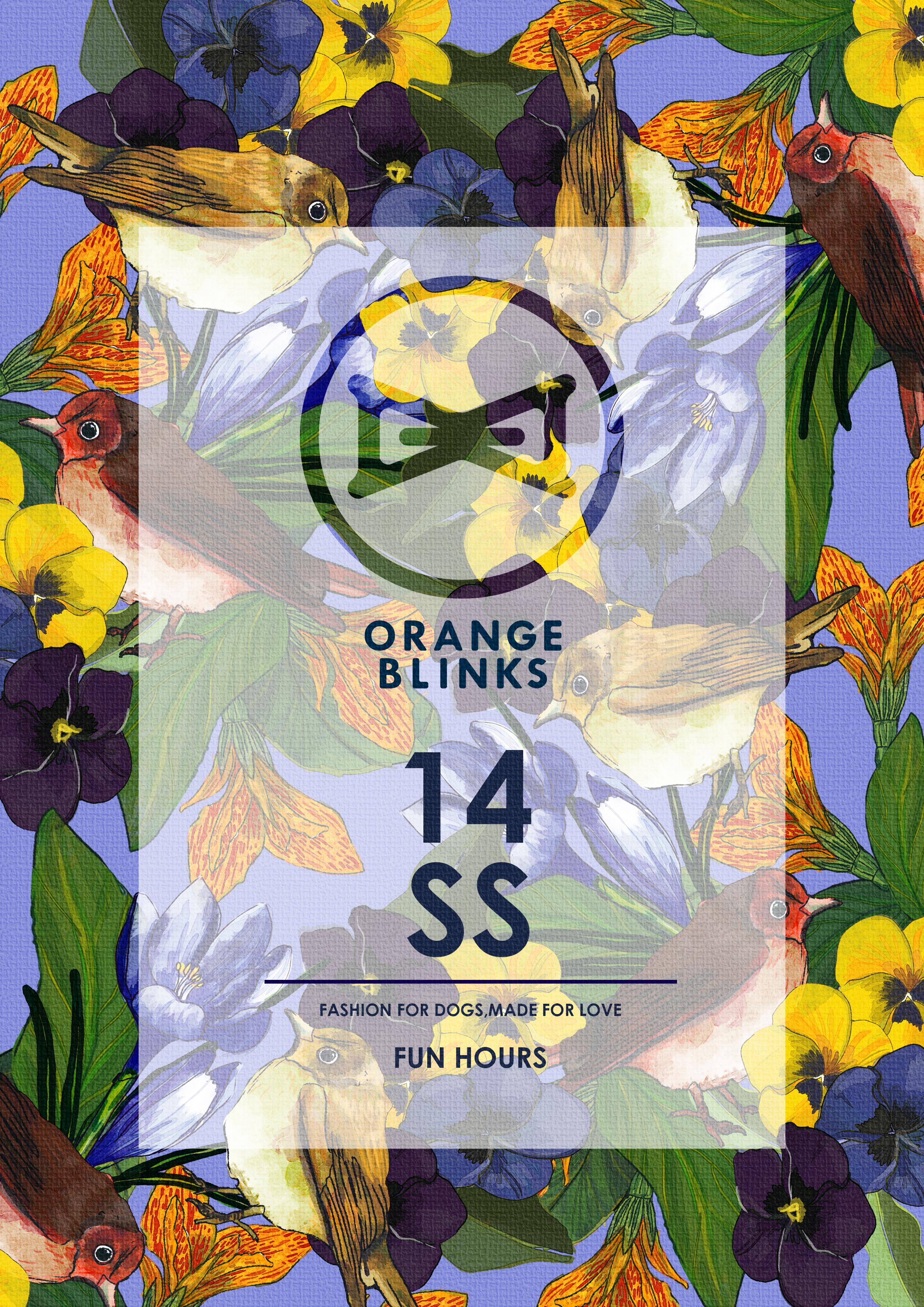 Orange Blinks 14SS look book cover