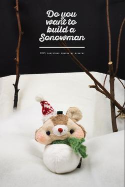 2015 Christmas poncha snowman