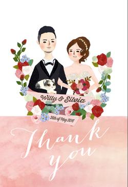 wedding illustration/ thank-you card