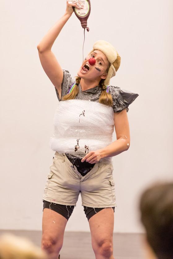 Clowning at The Clown School (copyright The Clown School & Rick Davitt)