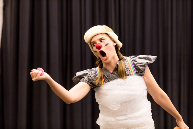 Clowning at The Clown School (copyright The Clown School & Rick Davitt)