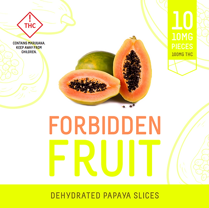 Forbidden Fruit - Dehydrated Papaya Slices