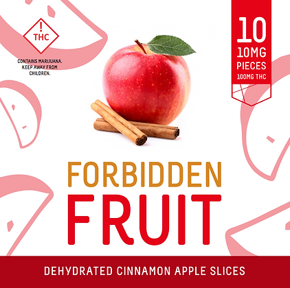 Forbidden Fruit - Dehydrated Apple Cinnamon Slices