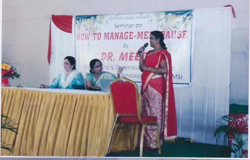 Seminor on How to manage-menopaulation