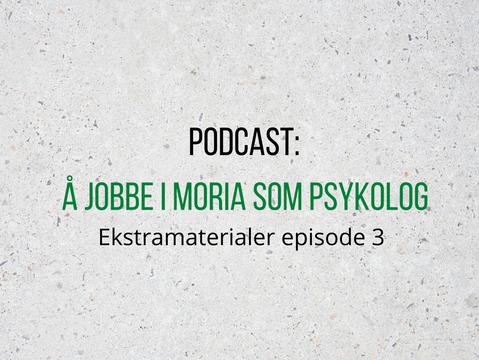 Ekstramaterialer til podcast - Episode 3