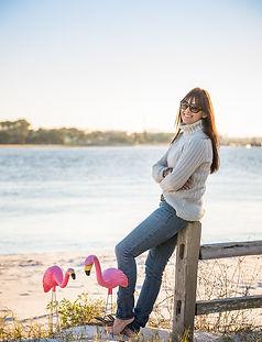 Jenni and Flamingos at Fence Huguenot Pa