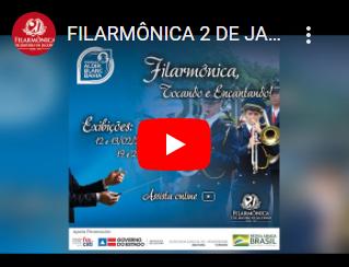 Live 4 - Filarmônica 2 de Janeiro, tocando músicas populares, nacionais e internacionais.