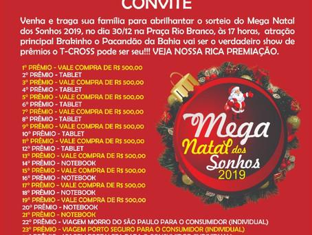 Jacobina: Sorteio do Mega Natal acontece nessa segunda-feira, ainda dá tempo concorrer!