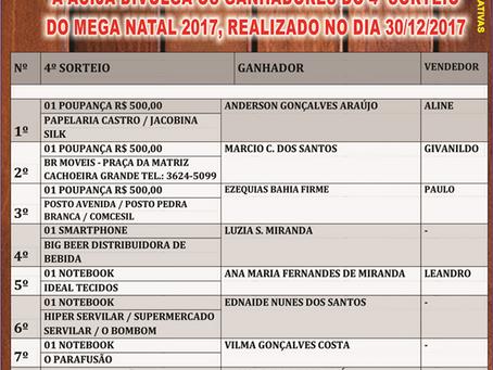 Acija Informa - Ganhadores 4º Sorteio Mega Natal 2017