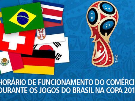 Sugestão de Funcionamento do Comercio Durante os Jogos do Brasil na Copa 2018.
