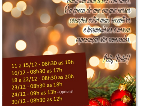 CDL e ACIJA Informam o horário do comércio para o período natalino