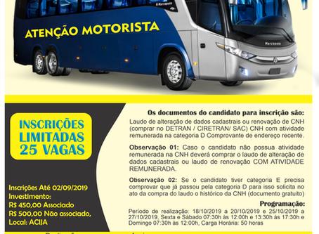 Curso Especializado para Motorista de Ônibus