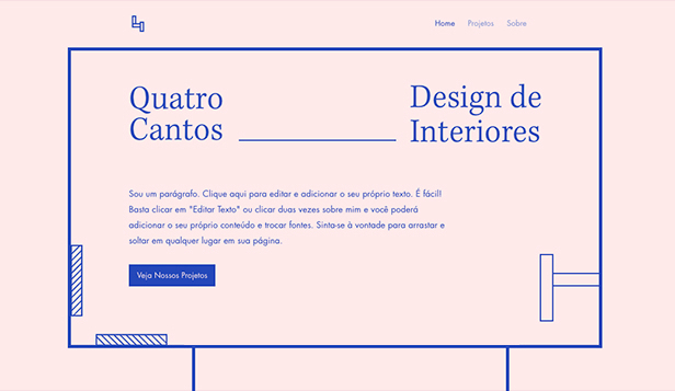 Agência website templates – Design de Interiores
