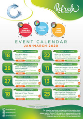 Event Calendar January - March 2020