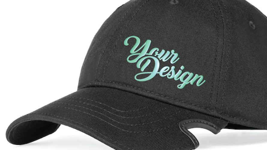 Customizable with puff Embroidery.