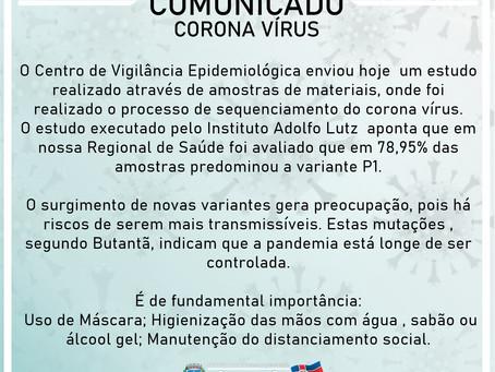 COMUNICADO - CORONA VÍRUS