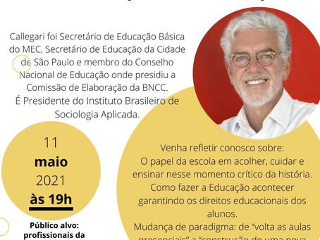 São Simão irá promover encontro virtual sobre a Educação com sociólogo e educador Cesar Callegari