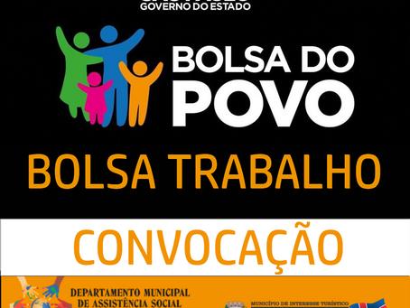 SECRETARIA DE DESENVOLVIMENTO ECONÔMICO PROGRAMA BOLSA-TRABALHO Convocação n.º 01 do Edital SDE/CPER