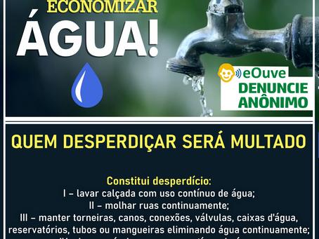 O desperdício de água agora será multado