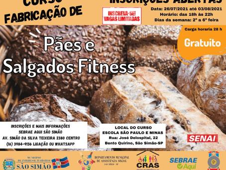 CURSO DE FABRICAÇÃO DE PÃES E SALGADOS FITNESS