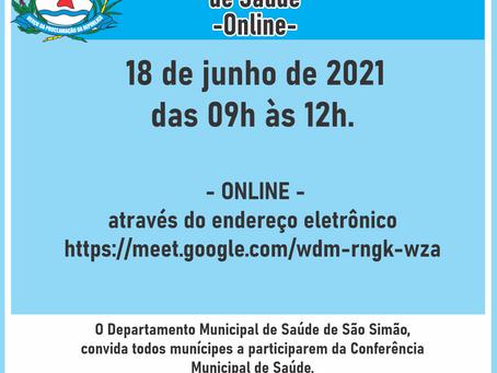 Conferência Municipal de Saúde - ONLINE
