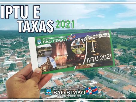 A Prefeitura de São Simão começou a entrega dos carnes de IPTU e taxas de 2021