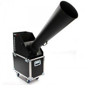 Large CO2 powered confetti blaster with a massive output designed for big concerts, stadiums and festivals.