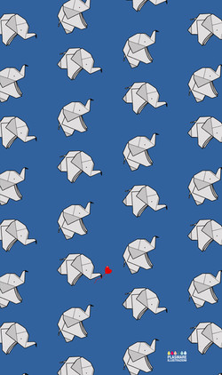 elefanti vettoriale origami -01