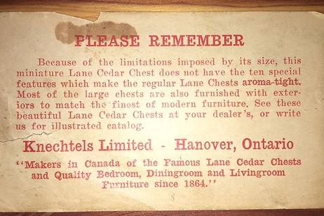 Canadian paper label