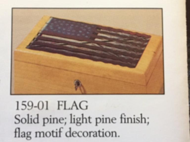 Lane cedar box flag