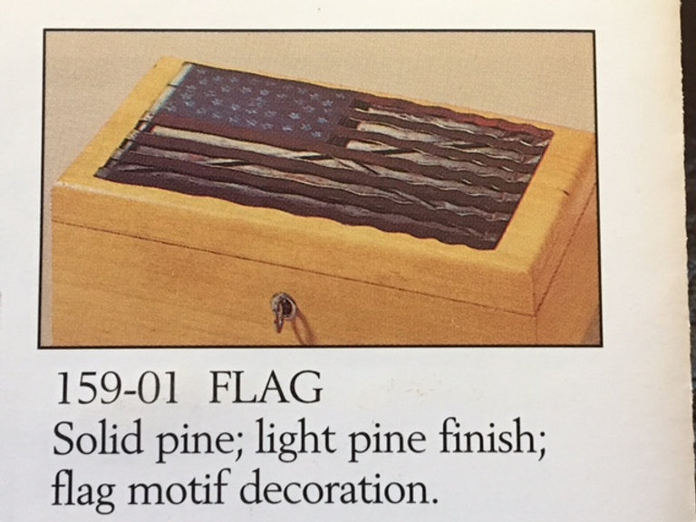 Lane cedar box flag