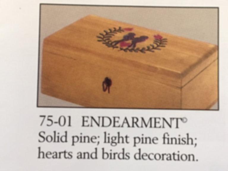 Lane cedar box love birds