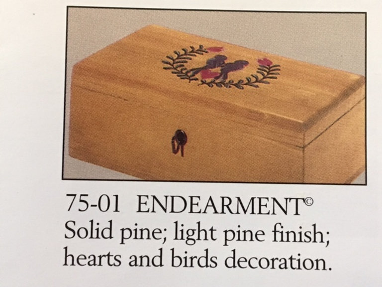Lane cedar box love birds