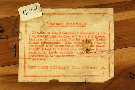 Lane box paper label