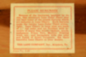 Lane box paper label
